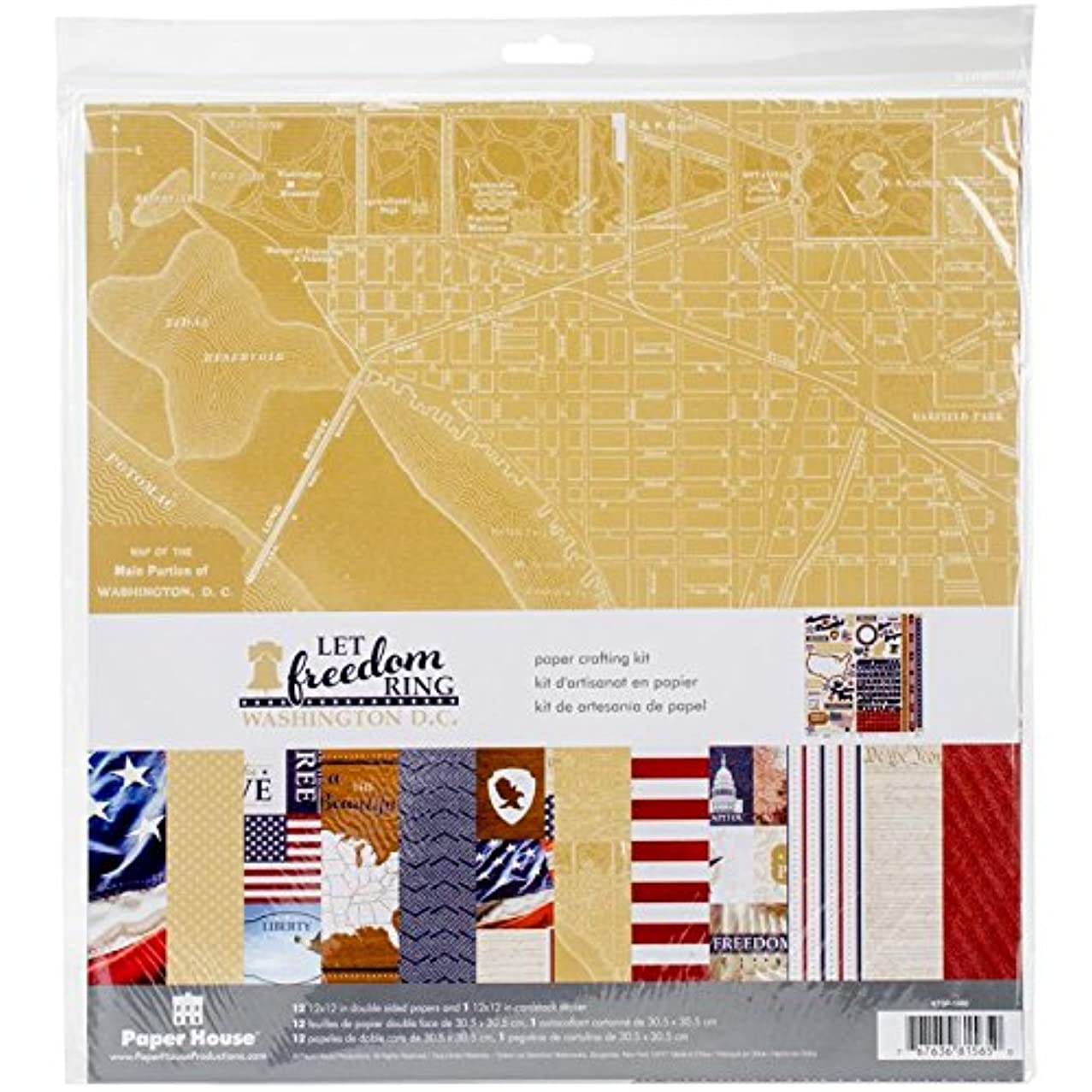 Paper House Productions Let Freedom Ring Washington DC Paper Craft Product
