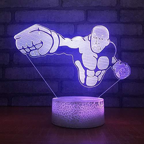 Muskel Männer Modell Riss Optische Täuschung Lampe LED 3D-Lampe Nachtlicht Acryl Atmosphäre Lampe 7 Farbe Moderne Lampe