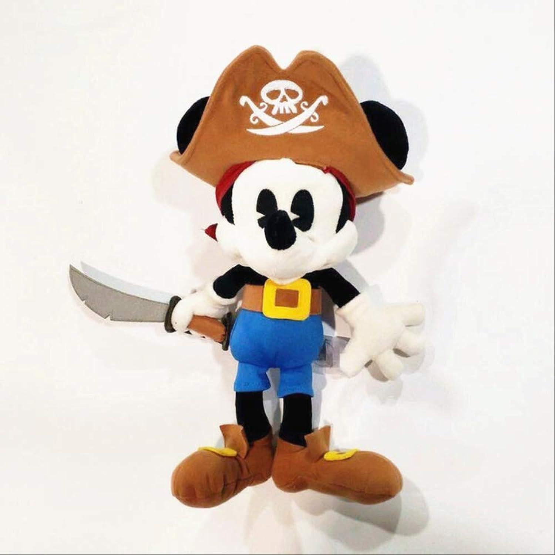 Hhjxptst Peluche Giocattoli, Peluche, Pirata, Topolino, Edizione, Mouse, Oswald Giocattoli Bambola, 20-60cm oro