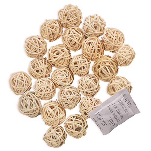 20 piezas Bolas de ratán mimbre mesa boda fiesta Navidad decoración 3cm Color natural