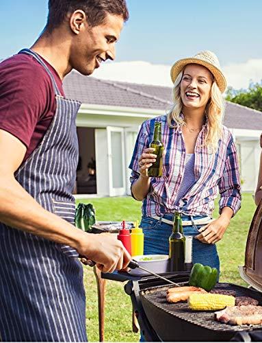 TOPELEK Thermomètres Cuisine, Thermometre Cuisson, 5 Secondes pour Afficher les Chiffres,Écran LCD, avec Bouton ° C /° F Grill, Barbecue, Steak, Bonbons, Lait, Eau Bain