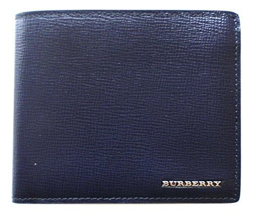 BURBERRY portafoglio a libro in pelle uomo modello 3997610 blu scuro