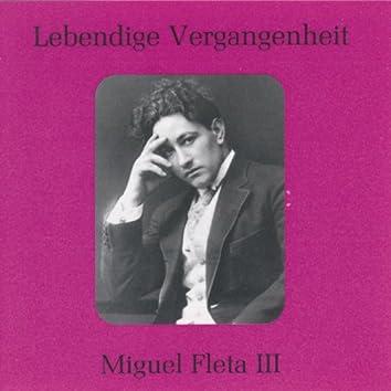 Lebendige Vergangenheit - Miguel Fleta (Vol.3)