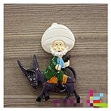 Yaoqshu Imanes Nevera World Travel Souvenir Fridge Image Boston Alemania Suiza Cuckool Reloj Resin Magnético Refrigerador Etiqueta Decoración para el hogar (Color : Avanti)