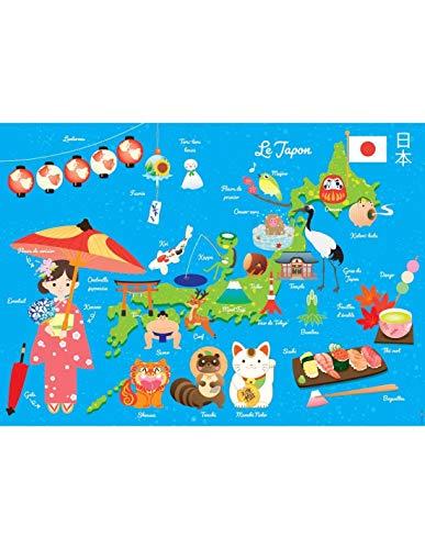 DECOLOOPIO - Poster Gigante plastificato: Mappa del Giappone