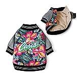 FSHDWC Amy - Vestido de perro para cachorro, ropa de invierno cálida para perro pequeño, chaqueta engrosada, divertido disfraz de perro para perro pequeño (color: impresión, tamaño: S)
