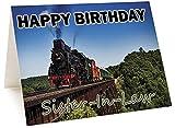 Biglietto di auguri di compleanno con trenino locomotiva