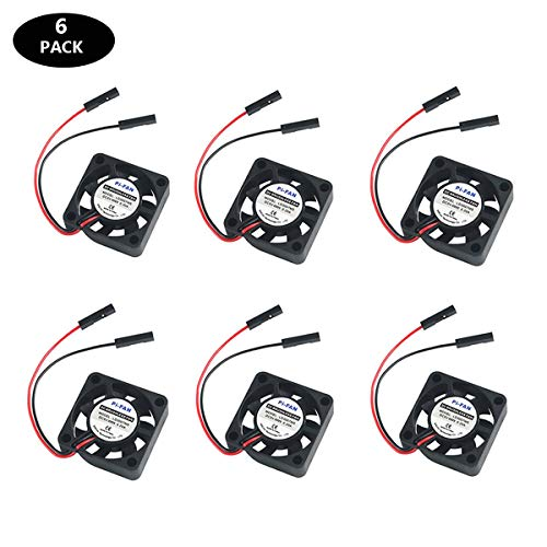 6PCS Raspberry Pi Fan, Raspberry Pi DC Brushless Cooling Fan 5V Heatsink Cooler - 30x30x7mm - One-to-Two Interface 3.3V 5V for RPi Zero/Zero W/Pi 2/Pi 3/3B+ or Other Robot Project
