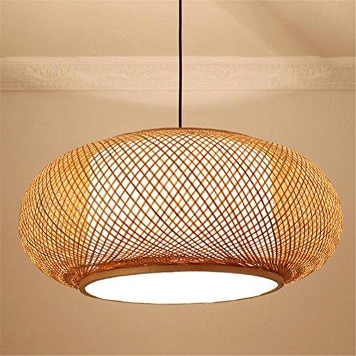 LUCKY CLOVER-A Regalo de inauguración de la casa de la lámpara de linterna creativa Lámpara de techo de estilo clásico Lámpara hecha a mano de color natural de madera natural