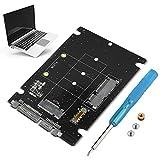 Tonysa 2 en 1 Mini M.2 NGFF y mSATA SSD a SATA 3.0 Convertidor/Adaptador de Disco Duro Compatibilidad con mSATA/M.2 NGFF SSD Disco de Estado sólido para Escritorio