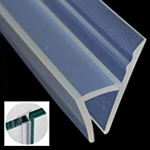 Glass Door Seal Strip (With High Viscosity Adhesive), 120 Inch Frameless Shower Door Sweep to Stop Shower Leaks