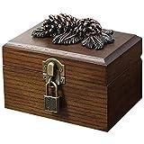 Kkoqmw Caja de joyería de Madera, con Caja de Almacenamiento de Joyas cosméticas de Gran Capacidad, Utilizado en aretes, Anillos, lápiz Labial, Collares, Pulseras, Relojes