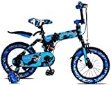 Xiaoyue Fahrräder Indoor-Kinder Faltrad-Jungen-Tricycle Farbe Fahrrad sehr cool Fahrrad Sommer Outdoor-Reisen for Kinder Scooter (Farbe: Blau, Größe: 16inches) lalay (Color : Blue, Size : 12inches)