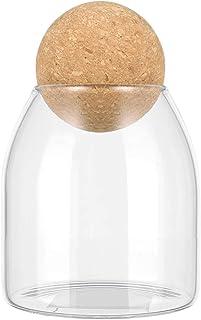 UPKOCH Glass Jar with Airtight Lid Candy Jar Food Storage Jar Storage Container for Candy Sugar Coffee Tea Beans Spice Sal...