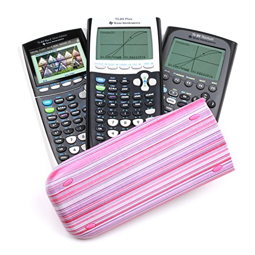 Guerrilla Hard Slide Case-Cover for TI-84 Plus, TI 84-Plus C Silver Edition, TI-89 Titanium Graphing Calculator, Pink Stripe Photo #5