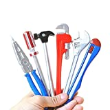 Tily Set di penne a sfera a inchiostro a forma di attrezzi, per scuola, ufficio, forniture scolastiche, regalo per bambini (6pezzi)