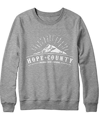 HYPSHRT Sweatshirt Hope County Freedom Faith Firearms C600007 Gris L