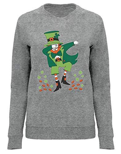 Green Turtle Sudadera Mujer - St. Patrick's Day Dabbing Leprechaun - Divertido para Mujeres en el Día de San Patricio XX-Large Gris