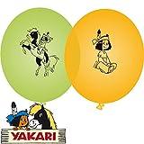 Yakari 8 Luftballons Kinderparty und Kindergeburtstag von DH-Konzept // Indianer Indianerjunge Sioux Kleiner Donner Deko Ballons Party Set