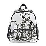 Ahomy Octopus Voilier Bateau pour enfants Livre Sac à dos Bébé Enfant Sac d'école Maternelle Sac à dos