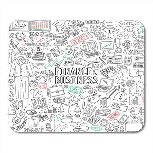 Semtomn Mouse Pad Gummi Mini Rechteck Zahlung Finanzen und Zeichnungen Kalender Budget Gaming Notebook Computerzubehör Backing