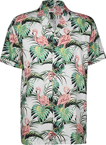 Levis Cubano Shirt Flamingo Leaf L
