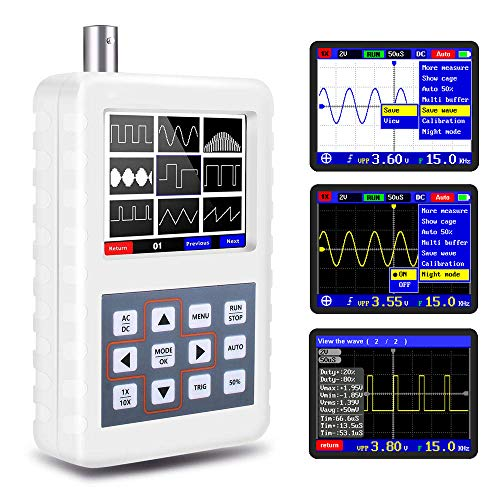 YEAPOOK Handheld Portable Mini Digital Oscilloscope DIY Automotive Oscilloscope Kit with 5MHz Bandwidth 20MS/s Sampling Rate (ASD2050h)