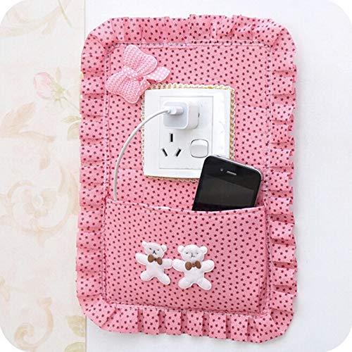 Etiqueta engomada del Interruptor de Tela Caliente con Juegos de enchufes de Bolsillo Teléfono móvil Key Bage Personalidad Decoración Creativa para el hogar