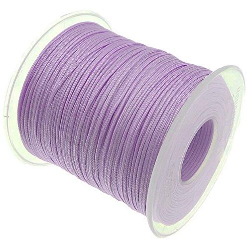 My-Bead 90m Nylonband Kordel 1mm flieder wasserfest Nylonschnur Top Qualität Schmuckherstellung basteln DIY