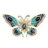Mecool Spilla a Farfalla Palace Retro Pin Corsage Spilla a Farfalla Pin Badge Pin per Donna e Ragazza
