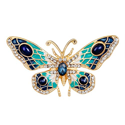 Mecool Butterfly Brooch Palace Retro Pin Corsage Butterfly Brooch Pin Badge Pin for Women and Girls