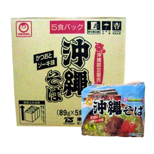 マルちゃん 沖縄そば袋 5食×6パック×2