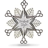 Hallmark Keepsake Christmas Ornament 2018 Year Dated, Hairdresser Snowflake Scissors Holiday Style