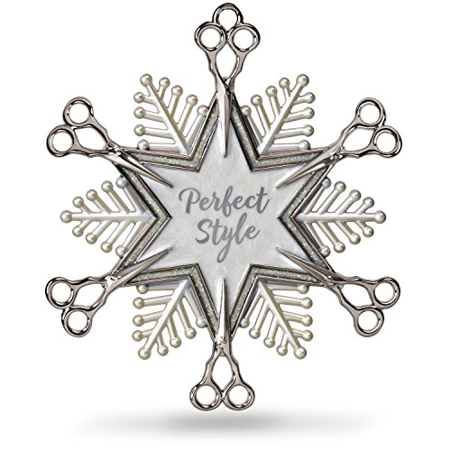 Hallmark Keepsake Christmas Ornament 2018 Year Dated, Hairdresser Snowflake Scissors Holiday Style