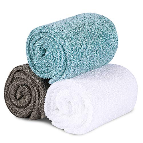 TOBEHIGHER Kitchen Dishcloth Dish Rags- Super Absorbent Dish Cloths for Drying Dishes, Wash just with Water, Lint Free Wash Cloth Set, Thick After Watering, 10.2 x 10.2 inches
