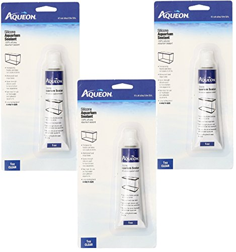 (3 Pack) Aqueon Silicone Sealant, Clear, 1-Ounce Tubes