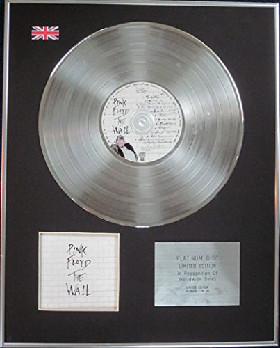 Century Music Awards Pink Floyd – Limited Edition CD Platin Disc – The Wall