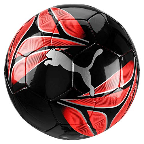 PUMA One Triangle Ball, Pallone da Calcio Unisex Adulto, Black-Nrgy Red-Silver, 5