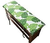 Cojín para banco de jardín, tatami para bancos de patio, muebles de palé, cojines de banco exterior, Verde, 100x30cm
