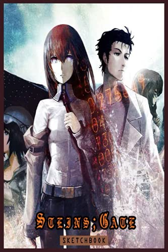 Steins;Gate - Anime And Manga Sketchbook: 6x9 120 Blank Pages Anime Sketchbook for Drawing Sketching and Notes | Anime Lover Gift Idea