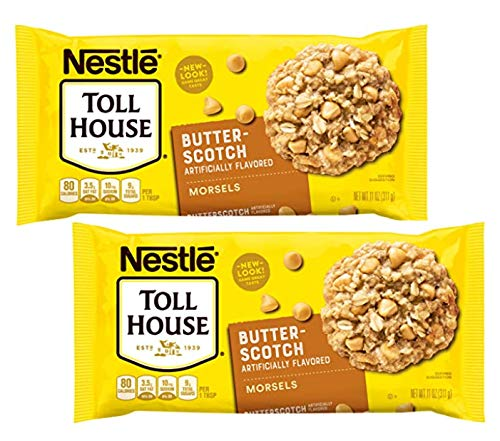 Nestle Toll House Butterscotch Morsels Chips for Baking, Toppings - 2 Pk (22 oz)