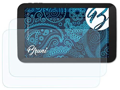 Bruni Schutzfolie kompatibel mit Trekstor SurfTab Xiron 10.1 3G Folie, glasklare Bildschirmschutzfolie (2X)