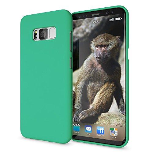 NALIA Cover Neon compatibile con Samsung Galaxy S8, Custodia Protezione Ultra-Slim Neon Case Protettiva Morbido Cellulare in Silicone Gel, Gomma Telefono Smartphone Bumper Sottile, Colore:Verde