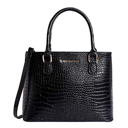 Lino Perros Black Faux Leather Handbag (Black)