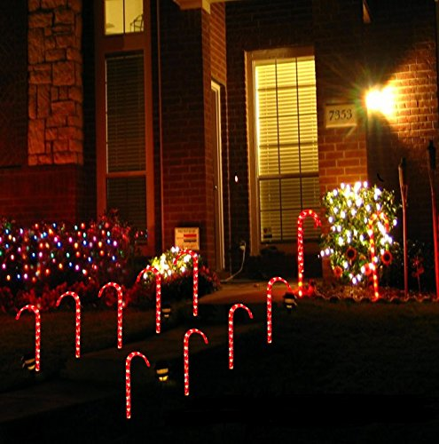 Not-So-Big Lighted Candy Cane Pathway Markers