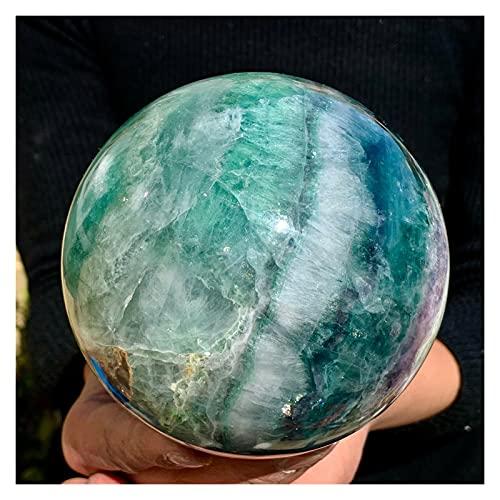 YSJJDRT Cristal Natural Rugoso Curación mágica de la Bola de Cristal de la Esfera de fluorita Colorida Natural. (Size : 750 800g)
