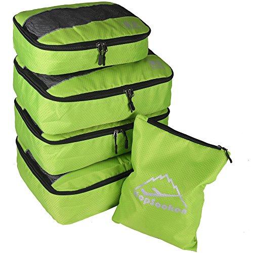Hopsooken, Organizer per valigie Unisex, adulto (solo valigia) Ragazza Per ragazzi Uomo Donna Green m