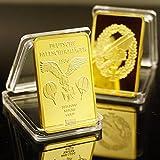 SFDGBTH Business Gift for 999 Real Gold Plated Bar Deutsche Reichsbank Gold Bar German Iron Ingot Bar