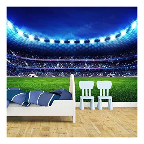 Football Stadium Pitch Sports Wallpaper Mural Photo Kids Bedroom Kitchen...