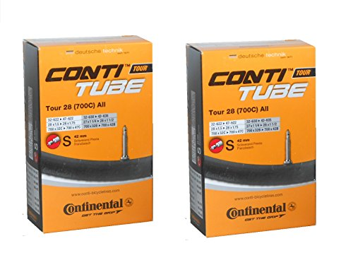 Continental Light - Tubo de válvula Presta (42 mm) - Negro - 700 x 32-47 (27')